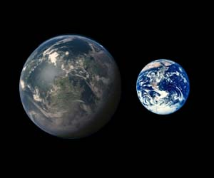 HD 40307g compared to earth