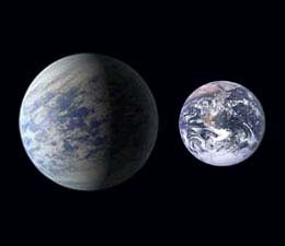 Kepler 452b compared to Earth in size